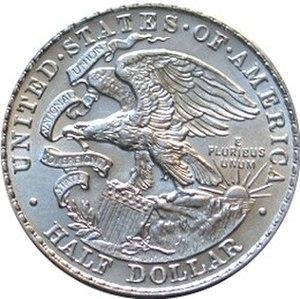 Illinois Centennial half dollar - Image: Illinois centennial half dollar commemorative reverse