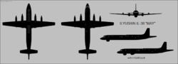 Ilyushin Il-38 May four-view silhouette.png