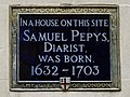 In a house on this site Samuel Pepys diarist was born 1632-1703.jpg