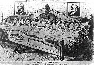 Brigham Young's 12 widows lament. Caricature i...