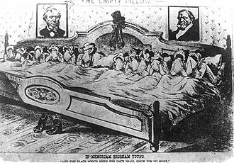 Brigham Young - Caricature of Young's wives, after his death