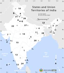 Olisabang Province India Map.Indias Delstater Og Territorier Wikipedia
