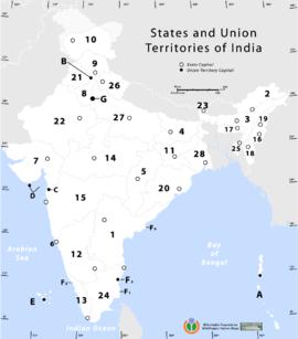 India Politica Cartina.India Geografia Politica