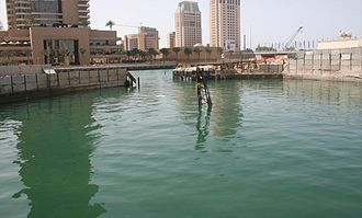 Cayan Tower - Image: Infinity Tower's Flooding on 9 March 2007