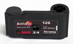 126 film - The 126 film cartridge.
