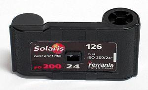 Ferrania - Ferrania 126-format photographic film cartridge