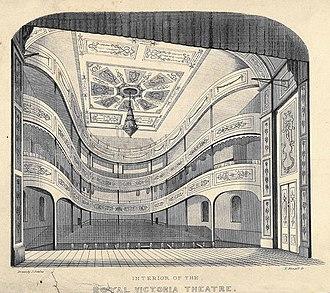 Royal Victoria Theatre, Sydney - Interior of the Royal Victoria Theatre