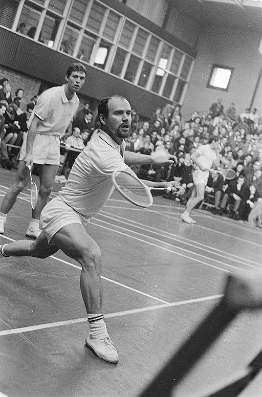 Internationale Badmintonkampioenschappen te Haarlem Erland Kops (op de voorgrond, Bestanddeelnr 922-0953