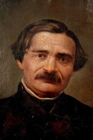 Ion Heliade Rădulescu - Portrait of Heliade Rădulescu, by Mişu Popp