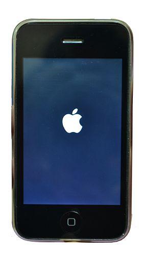 un iphone 3gs noir