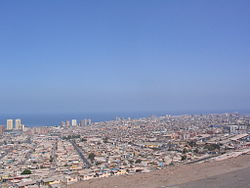 Overview of the city of Iquique