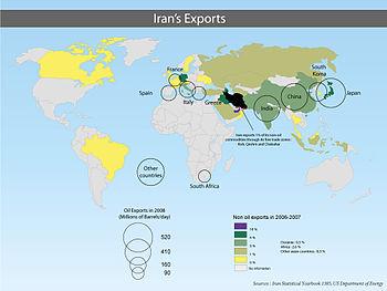 Iran oil exports 1385 en