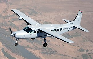 Iraqi Air Force Cessna 208 Caravan training mission.jpg