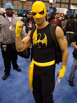 Cosplayer Iron Fist tijdens New York Comic-Con, 2009