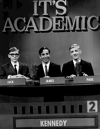 It's Academic - It's Academic show at WMAQ-TV in 1967. The team is from Chicago's Kennedy High School.