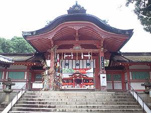 Iwashimizu Hachimangū - Main gate of the Iwashimizu Hachimangū