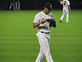 J. D. Martinez prepares to throw at MMP Sept 2013.jpg