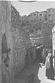 JEWISH PILGRIMS ON THEIR WAY FROM MOUNT ZION TO THE WAILING WALL DURING THE SUCCOT PILGRIMAGE IN JERUSALEM. חג סוכות. בצילום, מתפללים בדרכם מהר ציון אD11-054.jpg
