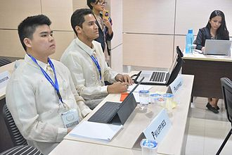 Model United Nations - Delegates attending a committee session at Jakarta MUN (JMUN) in Jakarta, Indonesia