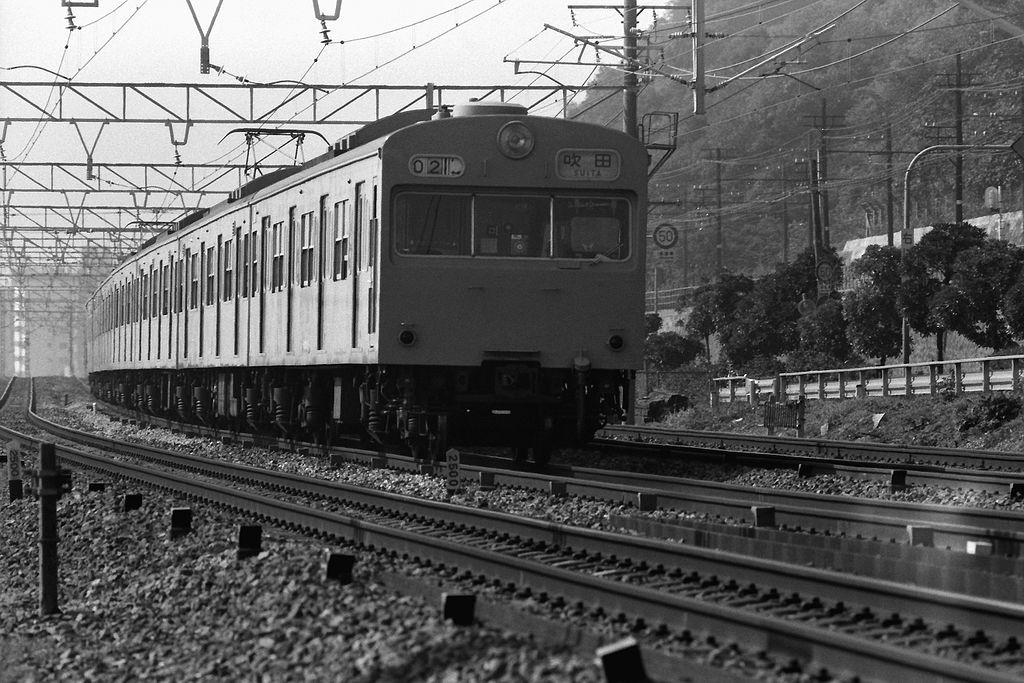 JNR 103 local train Sanyo Main Line Suma ward, Kobe