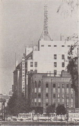 Fuji Television - The first Fuji TV headquarters in Yūrakuchō, circa 1961 (also shared with Nippon Broadcasting System)