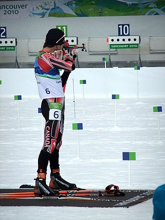 Canada at the 2010 Winter Olympics - Jean Philippe Leguellec competes in biathlon.