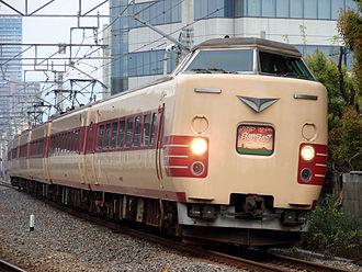 381 series - A 381 series on a Mahoroba service in May 2010