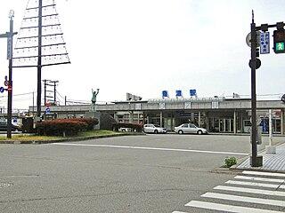 Uozu Station Railway station in Uozu, Toyama Prefecture, Japan