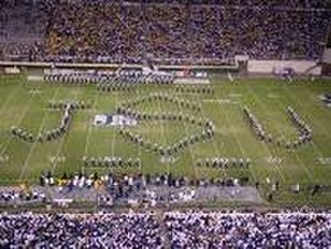 Jackson State University - The Sonic Boom of the South at halftime in Veterans Memorial Stadium