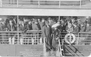 Jack Johnson (boxer) - Jack Johnson arriving in Vancouver BC on 9 March 1909 as World Heavyweight Champion