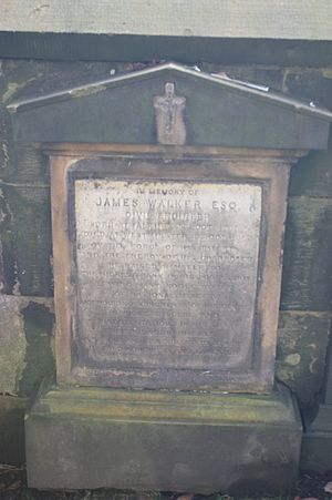 James Walker (engineer) - James Walker's grave, St Johns, Edinburgh