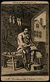 James Woodhouse, shoemaker and poet. Etching, 1765. Wellcome V0007312.jpg
