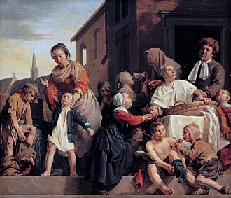 Orphanage - Caring for orphans, by Dutch artist Jan de Bray, 1663