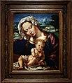 Jan gossaert e paesaggista anonimo, madonna col bambino in un paesaggio, 1531, 01.jpg