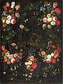 Jan van Kessel dÄ Blumengirlande mit der Verkündigung an die Hirten.jpg