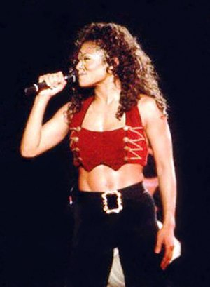 Janet World Tour - Jackson performing on the tour.