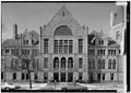 January 1975 DETAIL OF EAST (FRONT) FACADE - Wayne County Courthouse, Courthouse Square, Richmond, Wayne County, IN HABS IND,89-RICH,3-3.tif