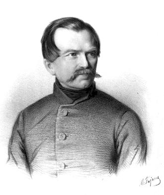 January Suchodolski - January Suchodolski.  Portrait by Maksymilian Fajans, after 1850.