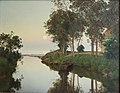Janus la Cour, Stille sommeraften ved åens udløb i havet, 1892, Aarhus Rådhus.jpg