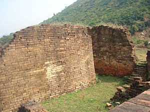 Malla-yuddha - The historic Jarasandha's Akhara (wrestling arena) mentioned in the Mahabharata epic, at Rajgir in Bihar, India.