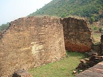 Malla-yuddha - The historic Jarasandha's Akhara (wrestling arena) mentioned in the Mahabharata epic, at Rajgir in Bihar, India.
