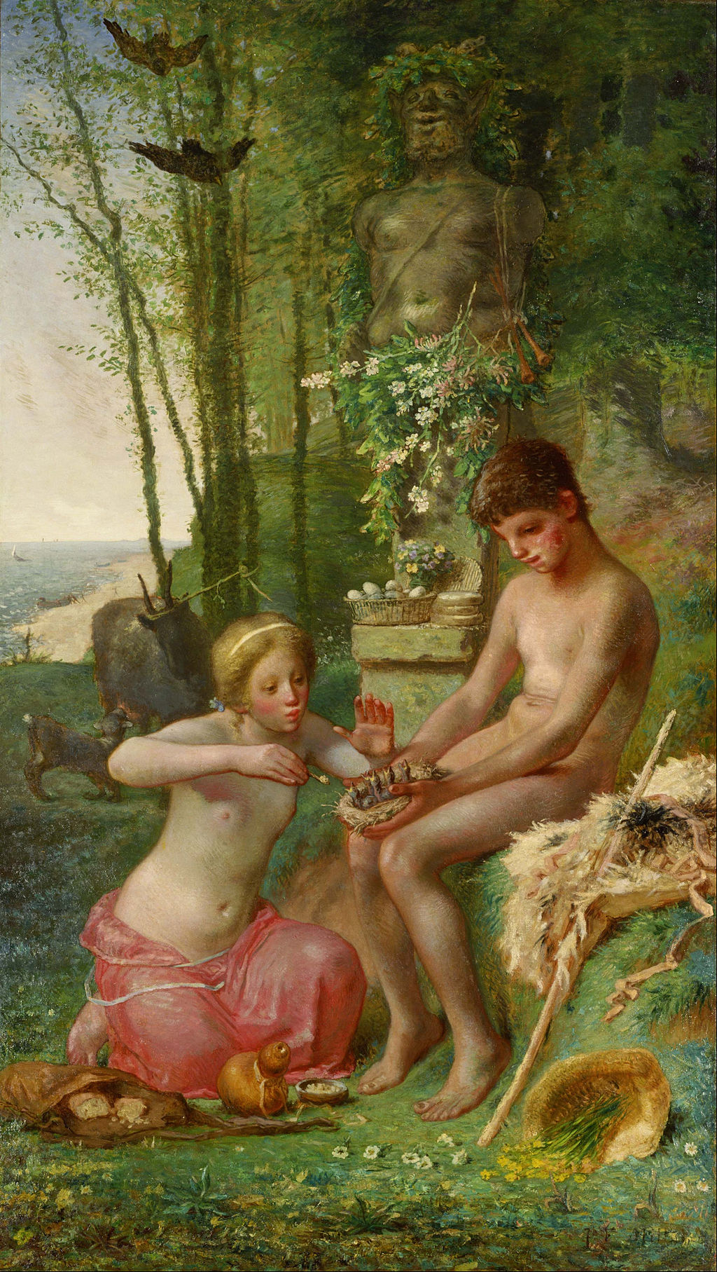 Jean-François Millet - Spring (Daphnis and Chloë) - Google Art Project