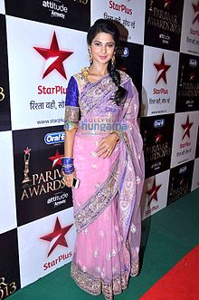 Jennifer Winget at the '11th Star Parivaar Awards 2013'.jpg