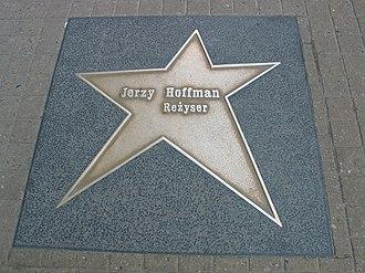 Jerzy Hoffman - Jerzy Hoffman's star in Łódź