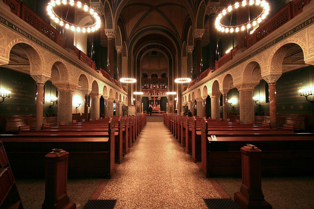 Intérieur de l'église Jesuskirken à Copenhague.