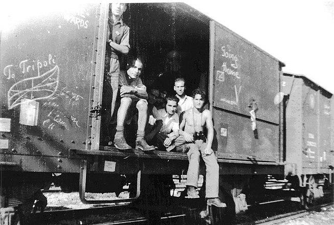 Jewish Holocaust survivors return to Libya from Concentration Camp Bergen-Belsen 1945