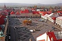 Jicin - Valdstejn's square, aerial view.jpg