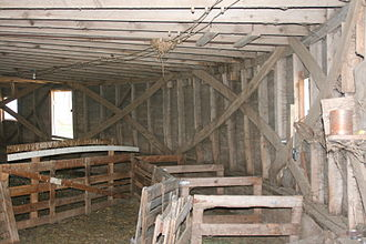 Framing (construction) - An unusual example of balloon framing: The Jim Kaney Round Barn, Adeline, Illinois, U.S.A.