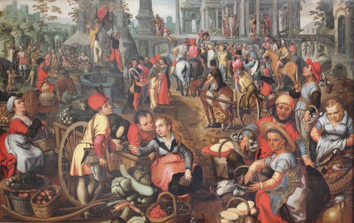 File:Joachim Beuckelaer - Marché avec l'Ecce Homo vers 1561.jpg