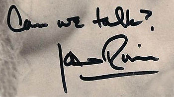 English: Scan of Joan Rivers' autograph with h...